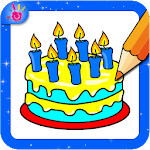 Cake Coloring Pages Game For Kids icon