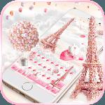 Pink Paris Rose Keyboard Theme - Rose EiffelTower icon