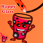 Make Happy Ladybug Glass By Draw lines icon