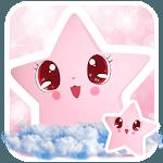 Cute Baby pink Star Kawaii Theme for pc logo