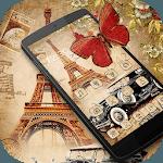Nostalgic Eiffel Car Butterfly Theme for pc logo