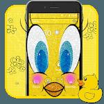 Glittering Yellow Bird Cartoon Theme🐥 for pc logo