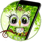 Cute Green Owl Theme💚🦉 icon