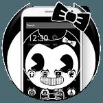 Black and White Ink Boy Theme icon