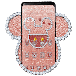 Rose Gold Glitter Cute Mouse Theme icon