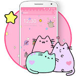 Pusheen Cat Lovely Pink Theme icon
