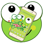Green Cartoon Frog Big Eyes Theme for pc logo