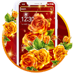 Beautiful Red Yellow Flower Theme🌻 icon