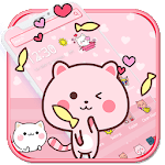 Pink Cute Kitty Cat Theme🐱💟 icon