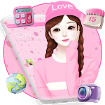 Adorable Cartoon Girl Theme👧 icon