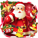 Joyful 3D Red Christmas Theme icon