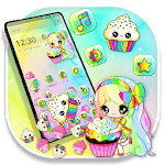 Delightful Sweet Cupcake Girl Gravity Theme icon