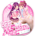Kawaii BFF Girls Gravity Theme icon