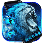Flaming Wild Lion Themes Live Wallpapers icon