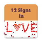 12 signs in love icon