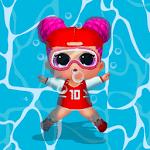 lol dolls swimming icon