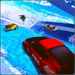 Water Surfing Car - Waterpark Stunts icon