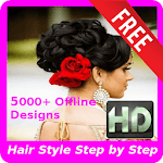 5000+ Girls HairStyles HD Step by Step (Offline) icon