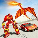 Flying Dragon Robot Car - Robot Transforming Games icon