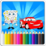 Mcqueen And SpongBob Coloring book for pc logo