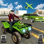 US Army ATV Quad Bike Limo Car : Transporter Game icon