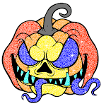 Halloween Glitter Color by Number Coloring Book for pc logo