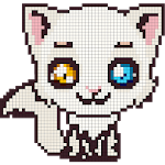 Cats Color by Number- Meow Pixel Art Coloring 2018 icon