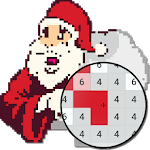 Christmas Pixel Art - Coloring By Number icon