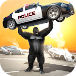 Monster Gorilla Rampage Apes Family Simulator icon