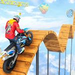 Mega Ramp Impossible Bike Crash Stunts Racing Sim icon