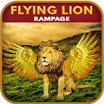 Real Flying lion Simulator : Wild Lion City Attack icon