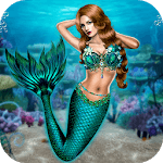 Mermaid Simulator: Underwater & Beach Adventure for pc logo