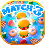 Crush The Burger ! Deluxe Match 3 Game for pc logo