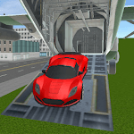 real racing cars cargo plane icon