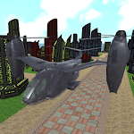 sci fi airplane helicopter 3D icon