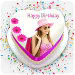 Photo & Name On Birthday Cake: HD Photo Frames icon