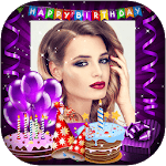 Happy Birthday Frame With Name And Photo icon