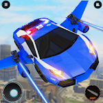 Real Police Robot Car : Flying Car Games icon
