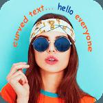 Curve Text On Photo : Stylish NameArt icon