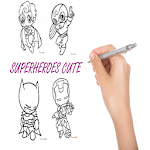 How To Draw Superheroes Cute icon