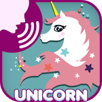 Unicorn fly scream icon