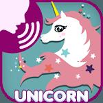 Unicorn fly scream icon