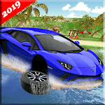 Water Surfing Floating Car Racing Game 2019 icon