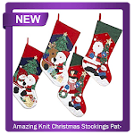 Amazing Knit Christmas Stockings Pattern icon