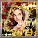 New Year 2019 Photo Frames ,Greetings Cards 2019 icon