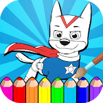 Paw Puppy Patrol Coloring Book icon