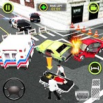 Ambulance Car Driving Simulator - Rescue Mission for pc logo