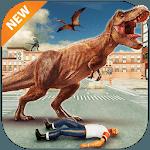 Dinosaur City Attack: Hungry Dino Simulator for pc logo
