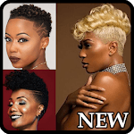 Black Woman Hairstyle Faded for pc logo