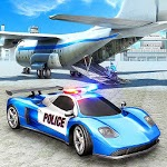 US City Police Car Transport Airplane icon